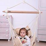 Bella Chica Luxuriöse Baby Hängematte und Kinderhängesessel gesteppt weichgepolstert (Farbe Cacao) - 3